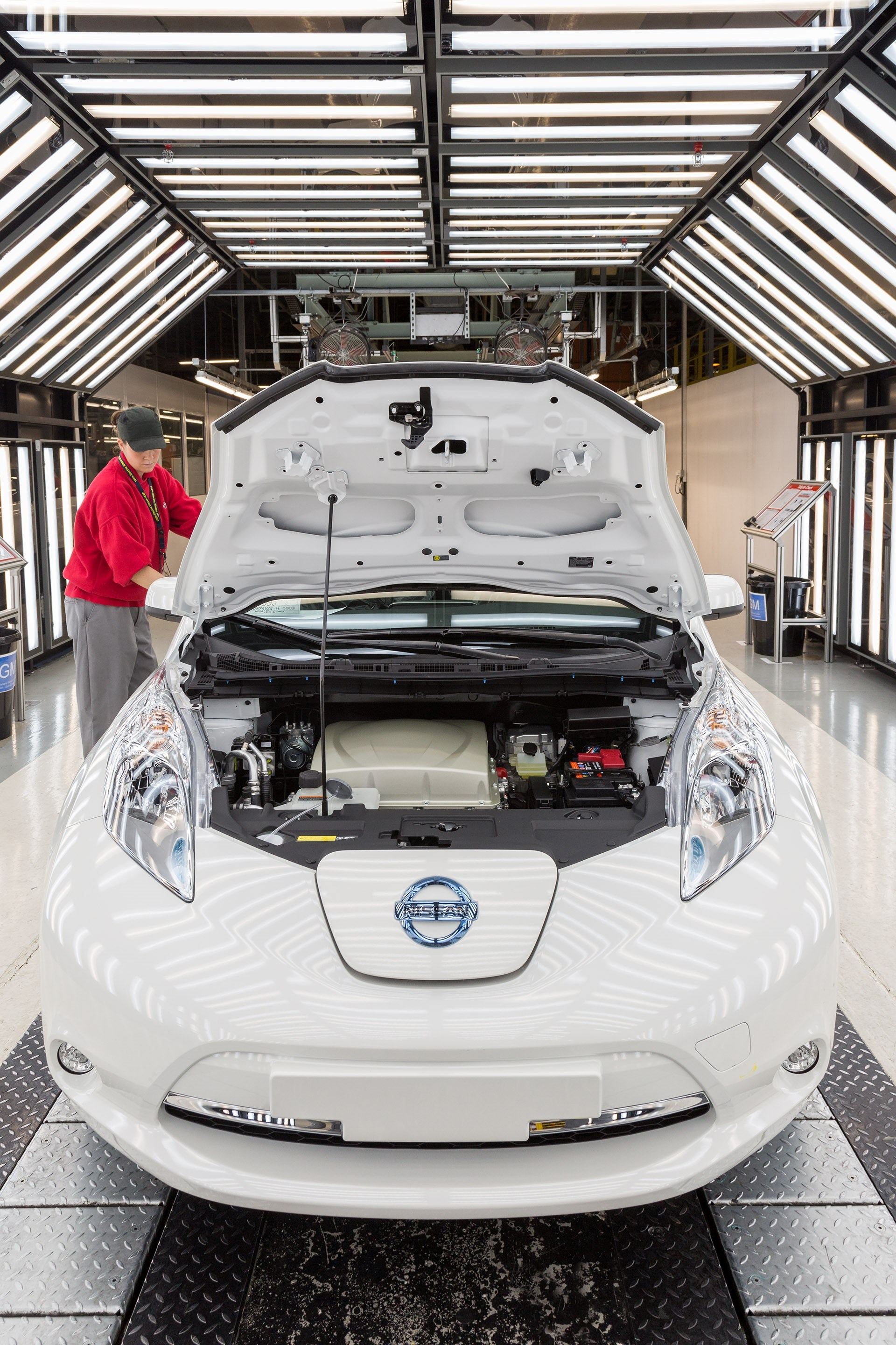 Nissan Leaf in Production Facility
